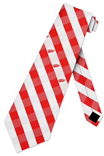 Detroit Red Wings Check Polyester Neck Tie NHL Hockey Team Logo