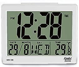 Ajanta Quartz Plastic Digital Alarm and Table Clock, (8 x 7 x 3.5 cm, White, ODC 190)