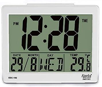 Buy Ajanta Quartz Plastic Digital Alarm and Table clock, (8 x 7 x 3.5 cm,  White, ODC 190) Online at Low Prices in India - Amazon.in