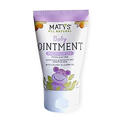 Maty's All Natural Baby Ointment, 3.75 oz, Petroleum Free, Safe for Cloth Diapers, Natural Alternative to Petroleum-Based Diaper Rash Creams, Safe For Sensitive Skin, Chemical & Fragrance Free