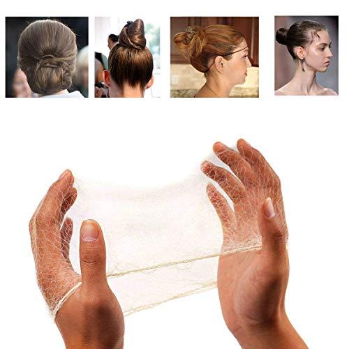 DEZHI 50PCS Haarnetze unsichtbar Elastisches Haarnetz für Balletttanz 20' Blond