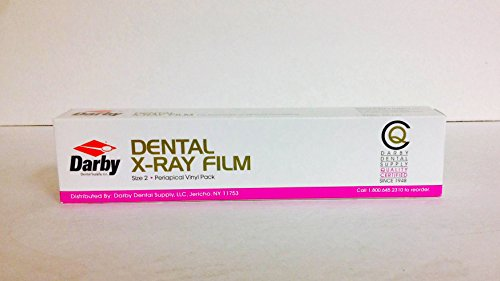 Dental XF-58 Periacipal X-Ray Film Size 2 For Automatic Or Manual Processing 150 1-Film Packets D-Speed