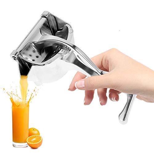 fannybuy しぼり器 ハンドジューサー フルーツ絞り器 みかん ジュース 絞り器 手動式 レモンしぼり フルーツしぼり レモン絞り ミニレモンプレス ステンレス製 手動ジューサー