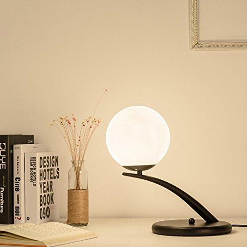 AMOS amerykańska sypialnia przy łóżku LED książka pokój salon Table lamp dekoracja żelazo skandynawskie nowoczesne proste biurko (kolor: Czarny)