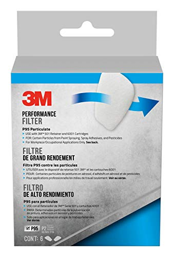 3M Safety 5P71PB1-6 3M P95 Particulate Filters, 6/Pack, 6 Pack