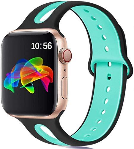 Correa de silicona para Apple Watch band 44mm 40mm iWatch band 38mm 42mm Correa de reloj transpirable apple watch series 5 4 3 se 6
