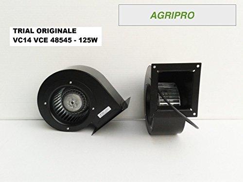 AGRIPRO TRIAL VC14 - Ventilador centrífugo 125 W, para motores de calderas de orujo y estufas de pellets