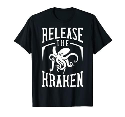 Liberar el pulpo de calamar regalo Kraken Camiseta