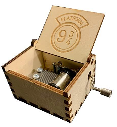 Music Box Hand Crank - Natural Wood