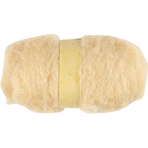 Lana cardada, color piel, 100 g