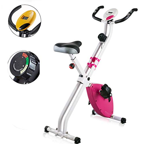 Thuis Dynamic Cycle Machine fitnessbike Binnen fietsen hometrainer met LCD-scherm Weight Loss Fitness Equipment,Yellow