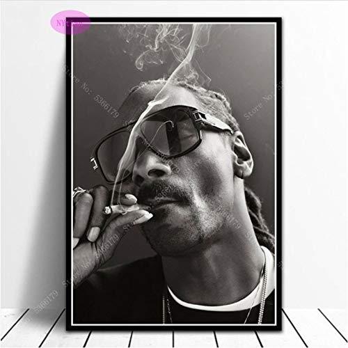 Poster Geschenk Dr.DRE & Snoop Dogg Rapper Star Sänger Ölgemälde Druckt Wandkunst Leinwand Bild Wohnzimmer Wohnzimmer Dekor 50 × 70 cm Ohne Rahmen