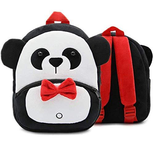 Sac à Dos Enfant, Forme Panda Mignonne en Peluche Mini-Sac à Dos pour Maternelle Garderie PréScolaire Filles Garçons(2 à 4 Ans)