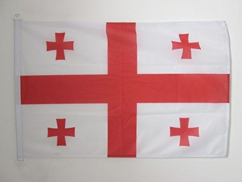 AZ FLAG Flagge GEORGIEN 90x60cm - GEORGISCHE Fahne 60 x 90 cm Aussenverwendung - flaggen Top Qualität