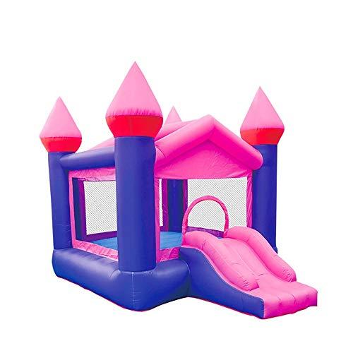 Castle Bouncer with Slide Children's Inflatable Castle Inflatable Trampoline Combination Slide Small Indoor and Outdoor Trampoline Inflatable Bouncy Castle ( Color : Purple , Size : 350×270×250cm )