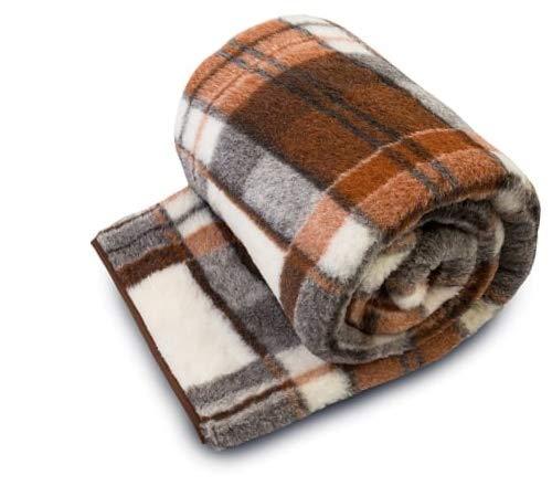 Manta de lana de merino pura, 160 x 200cm