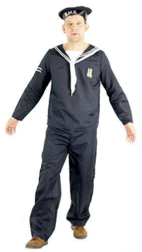 Foxxeo Seemann Matrosen Kostüm für Herren Karneval Fasching Matrose Party Größe XL