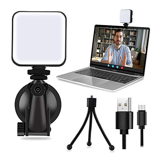 Light for Video Conferencing with Tripod & Suction Cup, Laptop Video Conference Lighting Kit for Remote Working | Zoom Calls | Self Broadcasting | Live Streaming