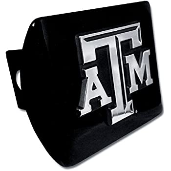 Texas State Bobcats METAL emblem on black METAL Hitch Cover AMG maroon trim