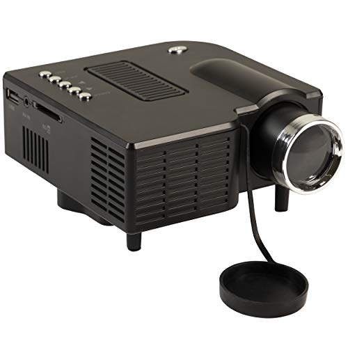 Silvergear Mini Beamer, Projektor, LED Beamer mit HDMI (QVGA), USB, AV, SD - Schwarz