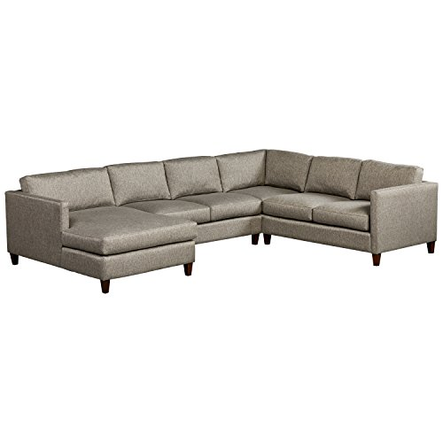Stone & Beam Andover Modern Right U-Sectional, 134'W, Grey
