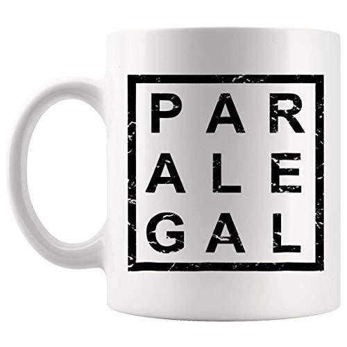 N\A Ley de Abogados Paralegales - Taza Paralegal Elegante de 11Oz Paralegales para Camisetas Paralegales