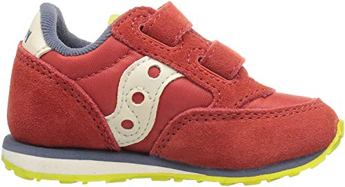 Saucony Boys' Baby Jazz Hook & Loop Sneaker, Red/Blue/Lime, 11.5 M US Little Kid