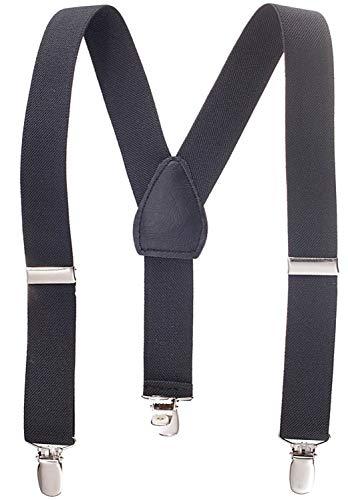 Hold'Em Suspenders for kids Toddler boys Genuine Leather Trim Metal Clip Braces