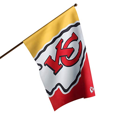 "NFL Kansas City Chiefs Unisex Double Sided 40"" x 28"" Team Logo Vertical Flag, Vertical 40"" x 28"", One Size"
