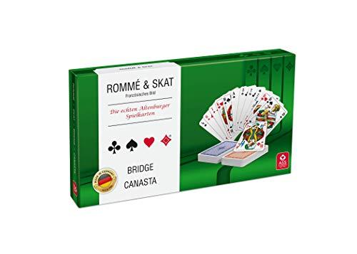 ASS Altenburger 22570188 Spielkartenkassette - französisches Bild, in umweltfreundlicher Stülpschachtel für Rommé, Skat, Bridge, Canasta