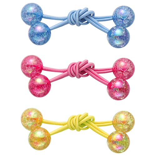 BESPORTBLE 3 paar haarringe schmetterling ball haarkreise elastische haarbänder handgemachte frauen haarspange mädchen haarschmuck (mischfarbe)