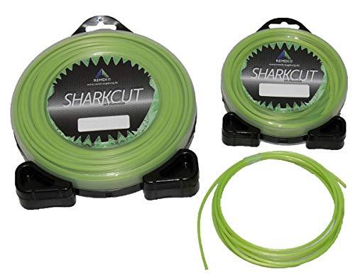 Sharkcut Profi Alu Trimmerfaden, Nylonfaden, Mähfaden Rund 2,0 mm verschiedene Längen