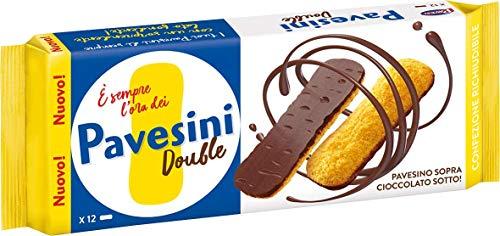 Pavesi Pavesini Double, Snack Croccante con Cioccolato Fondente, Snack Leggero, Confezione da 60 gr