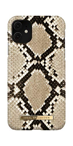 IDEAL OF SWEDEN Carcasa para iPhone 11 y iPhone XR, diseño de serpiente sahara