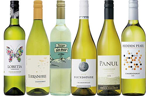 世界のシャルドネ辛口白ワイン飲み比べ6本セット(シャルドネ種100%)750mlx6本