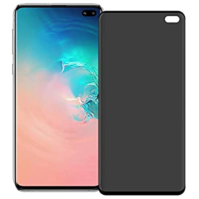 Galaxy S10 Plus privacy screen protector, tempered glass [3D bending] [9H hardness] [anti-bubble] suitable for Samsung Galaxy S10 Plus/S10+