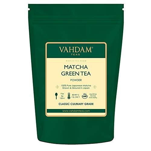 VAHDAM, polvo de té verde Matcha (50 g, 25 tazas), polvo de