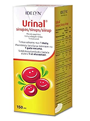 URINAL cranberry juice syrup, 150 ml for infection and inflammation of the urinary tract by Wallmark