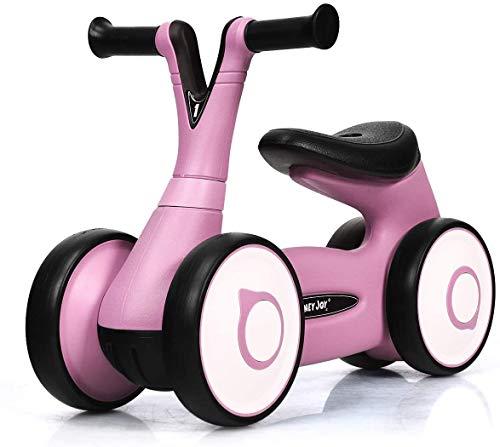 Baby Miwaimao balans van de fiets, duw fiets zonder pedalen Walker, de eerste driewieler vorming van kinderen van 1-3 (Pink),roze