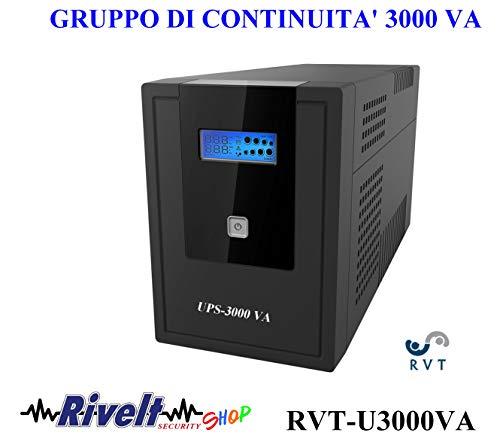 UPS3000 VA RVT-U3000VA Line Interactive Gruppo di Continuità con LCD 4 prese sciuco bivalenti 3000 VA di Potenza