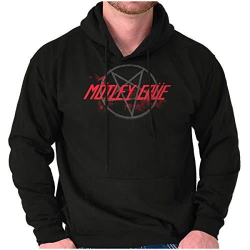 Brisco Brands Motley Crue Band Pentagram Logo Hoodie Sweatshirt Women Men Black