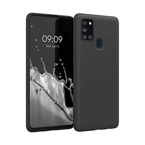 kwmobile Hülle kompatibel mit Samsung Galaxy A21s - Handyhülle - Handy Case in Schwarz matt
