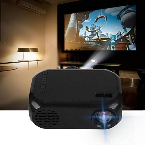 MUDEREK Mini proyector HD para cine en casa, proyector portátil compatible con interfaz USB/AV/HDMI HD (estilo: UK)