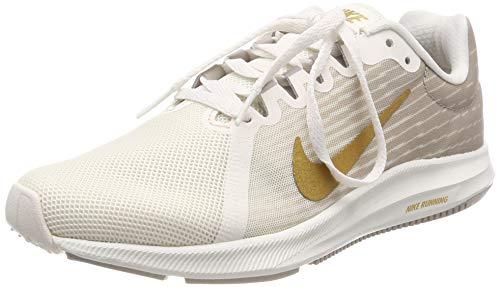 Nike Damen WMNS Downshifter 8 Laufschuhe, Mehrfarbig (Phantom/Metallic Gold/Moon Particle 012), 36.5 EU