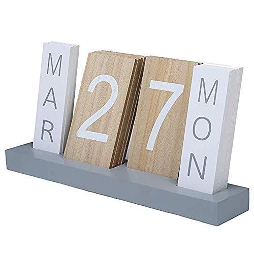 Calendario de Madera de visualización en Escritorio Calendario perpetuo de la Sala de Estar Dormitorio la decoración del hogar