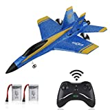 RC Plane F-18 Remote Control Airplane 2.4GHz 3.5 Channel 6-Axis Gyro RTF Plane Ready to Fly for Kids Boys Beginner (F18)