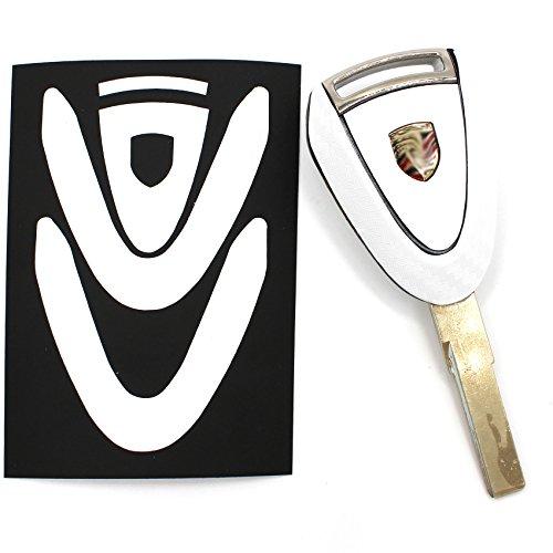Sleutelfolie PB voor 3 toetsen auto sleutel cover folie decor sticker carbon wit