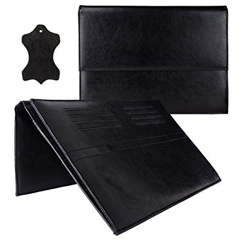 eFabrik ROYALZ Leder Tasche für Acer Switch 3 Schutz Hülle Cover Sleeve, Farbe:Schwarz