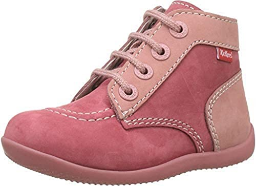 Kickers Unisex Baby Bonbon Lauflernschuhe, Pink (Rose fonce Perm), 19 EU