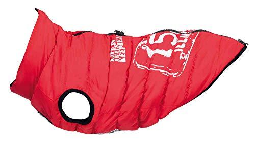 Trixie Mantel für Hunde, Kleidung für Haustiere, Weste, mit Geschirr, für kleine und mittelgroße Hunde, Zubehör für Geschirr, Größe M, 45 cm, Rot